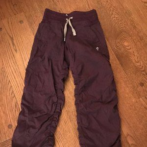 Ivivva  Live to Move Pants  - Lined, Plum, Size 6